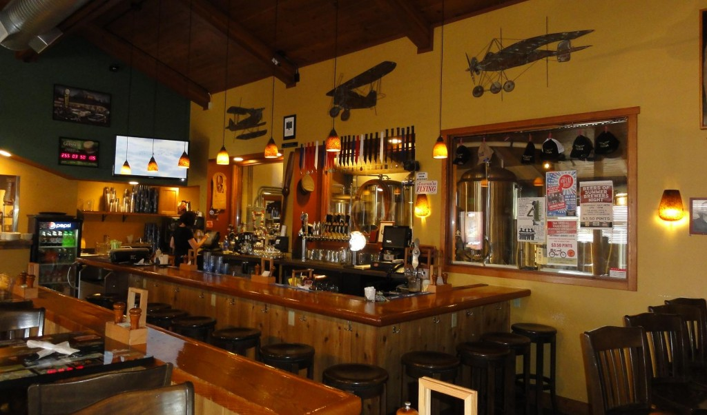 Inside Flyers Restaurant and Brewery.