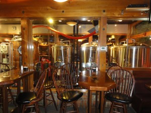 The brew vats add a nice atmosphere while dining.