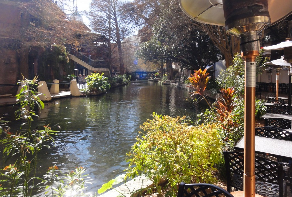 The San Antonio River Walk. Schilo's is just above the River Walk, though not at this particular spot.