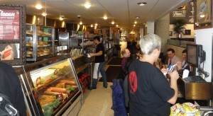 The kitchen and deli section of the diner.