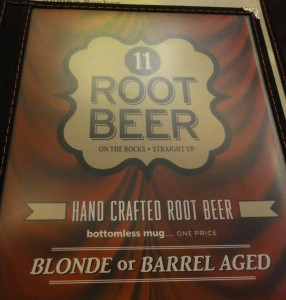 The root beer menu. It refers to their classic flavor as barrel aged though the servers refer to it as classic.