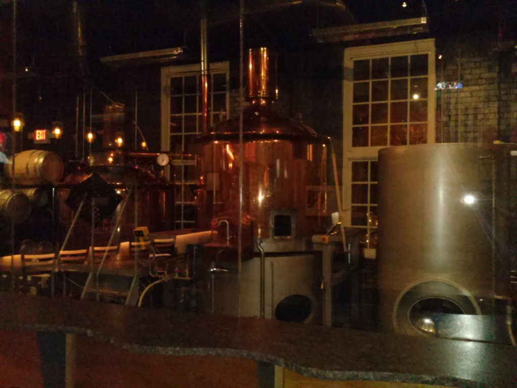 Some of the brew vats.