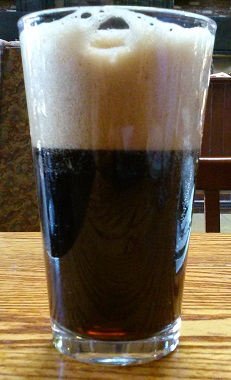 A pint of Steelhead Root Beer Original Spicy Draft