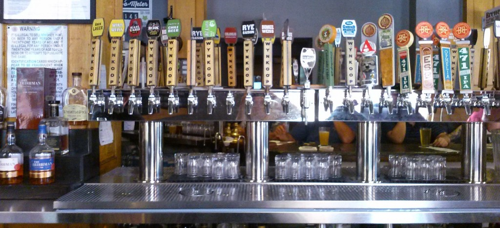 The Wyncoop Brewing Company Taps. Notice the Root Beer at the back.