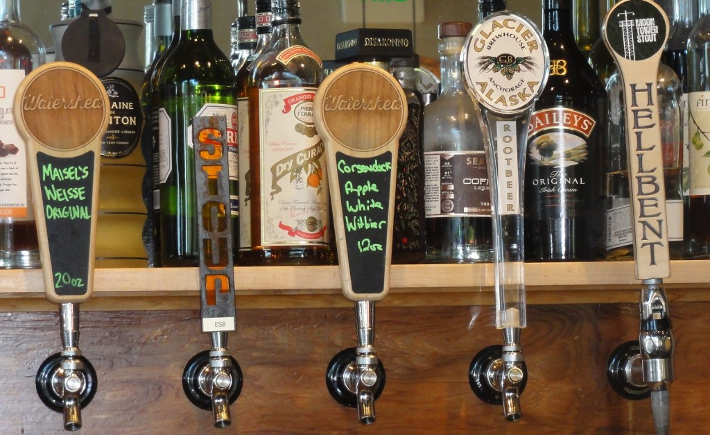 The Glacier Brewhouse Root Beer tap (and some beer taps) at Watershed Pub & Kitchen