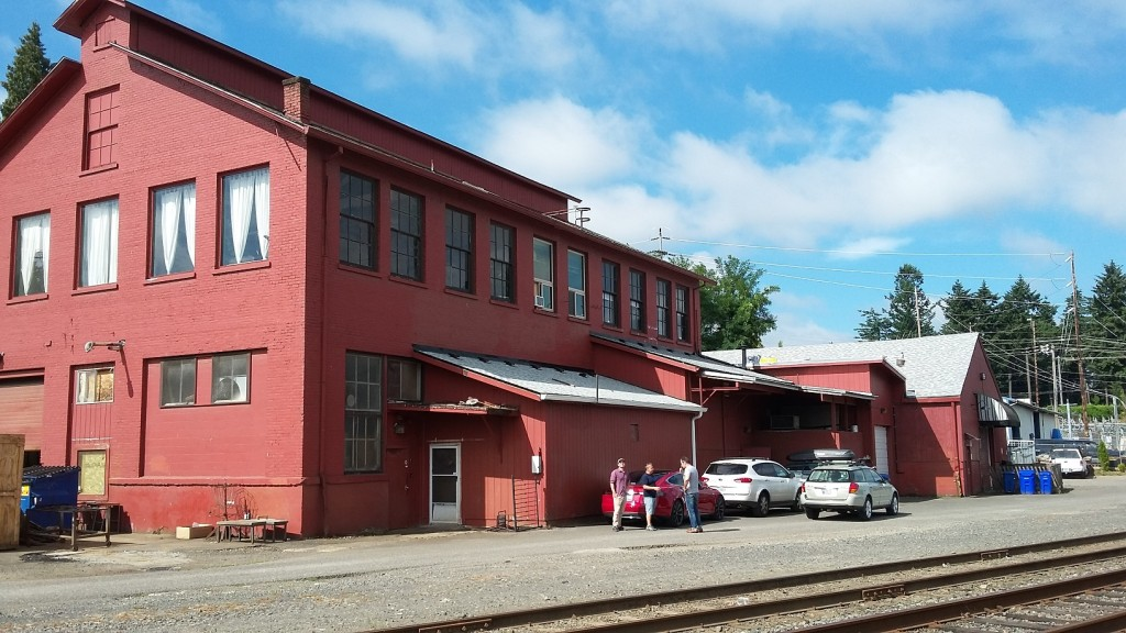 The building that houses the Portland Soda Works and other businesses