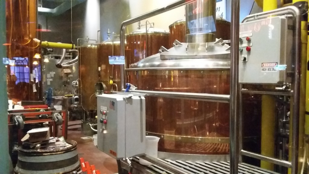 The Brew Brothers' brewing vats.