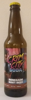 Crim City Soda Renegade Root Beer Bottle