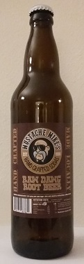 Mustache Mike's Raw Dawg Root Beer Bottle