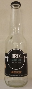 Brix Soda Co Root Beer Bottle