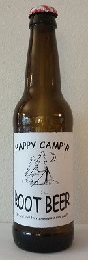 Happy Camp'r Root Beer Bottle