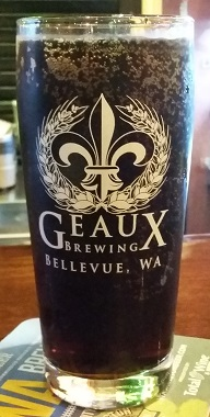 A pint of Geaux Brewing Root Beer
