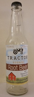 Tractor Soda Company Root Beer Bottle