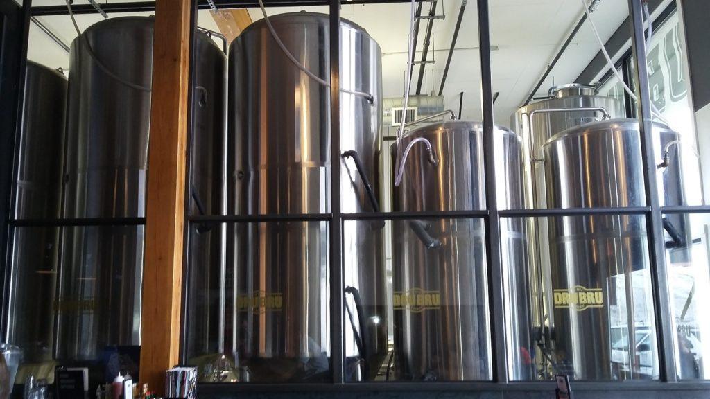 The Dru Bru brew vats.
