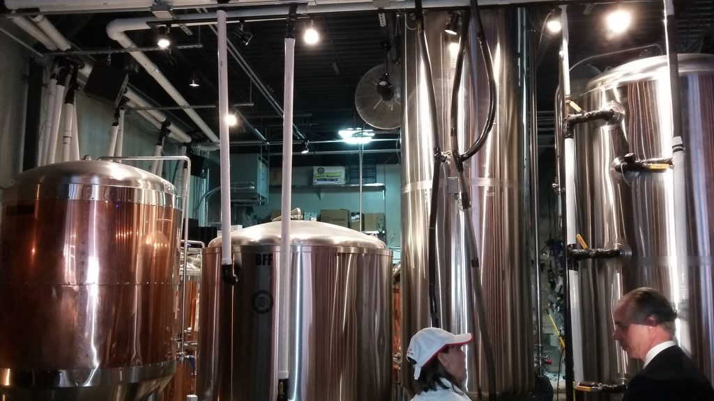 The LTD Brewing vats.