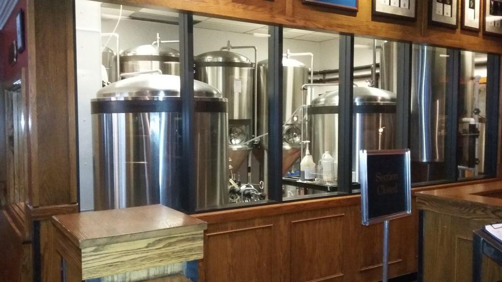 The brew vats.