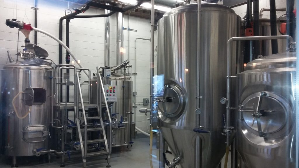 The Exit Strategy Brewing Company vats. I wonder which one is for the root beer.