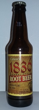 Calvin's 1836 Root Beer Bottle