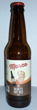 Bottle of Marco Root Beer