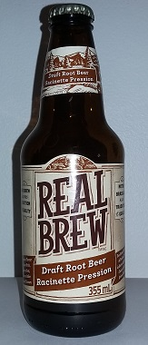 Real Brew Root Beer Bottle