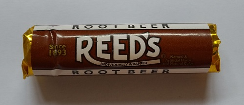 A packet of Reed's Individually Wrapped Root Beer Candies