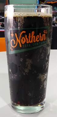 A pint of Northern Soda Company Butterscotch Root Beer