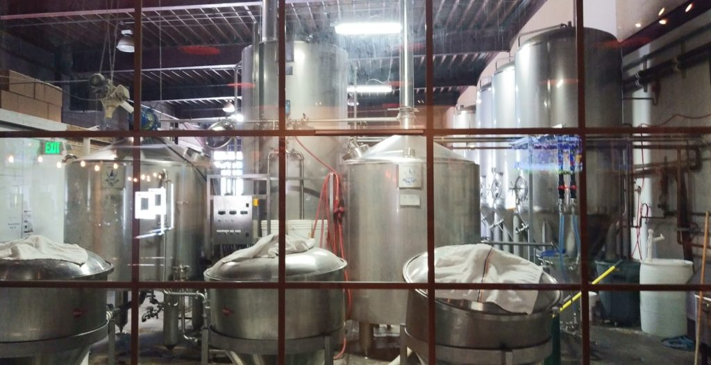 The Badger Mountain Brew Vats.