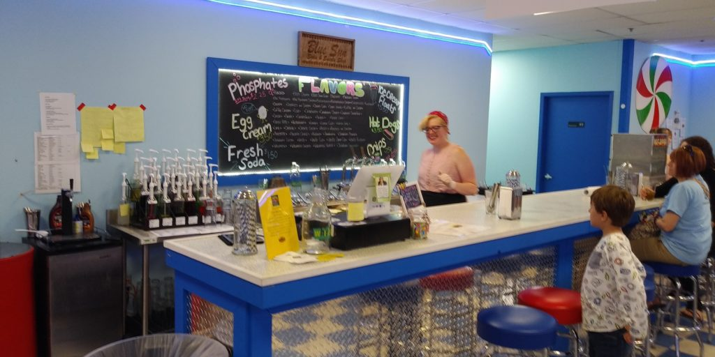 The Blue Sun Soda Fountain