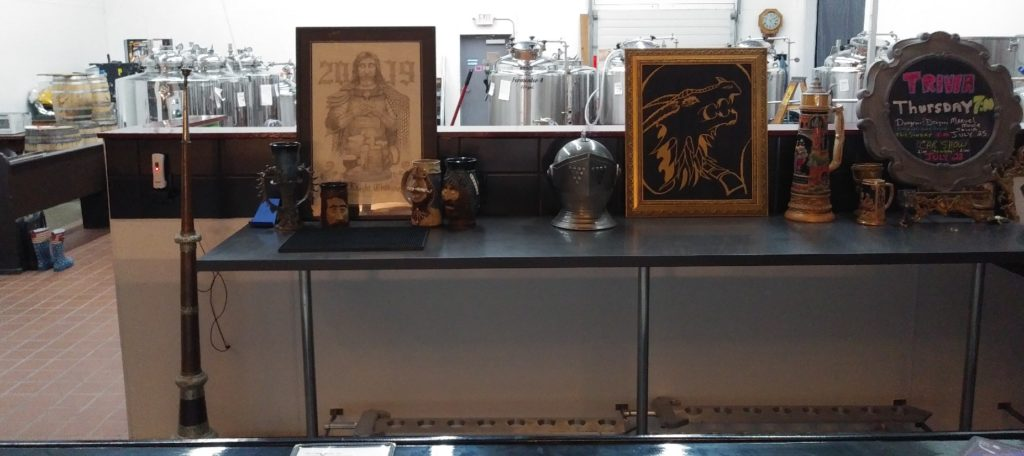 The Under Pressure Brewing brew vats and some of the decor.