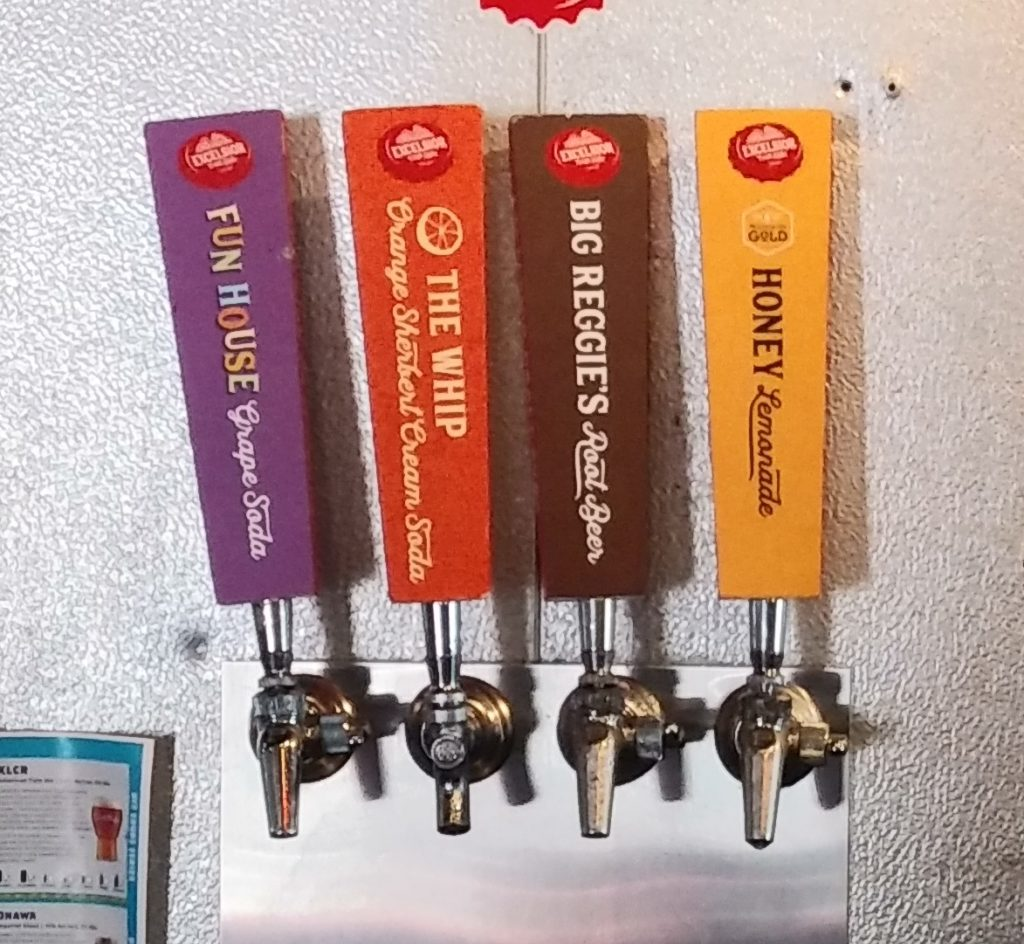 The Excelsior Brewing craft soda taps