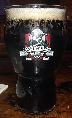 A pint of Kinney Creek Brewery Rah Rah Root Beer