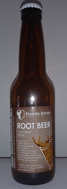 Pigeon River Brewing Company Root Beer Bottle