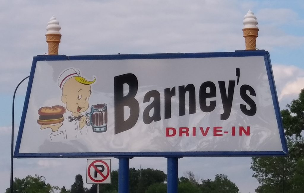 The Barney's Drive-In Sign