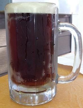 A mug of A & Dubs Root Beer