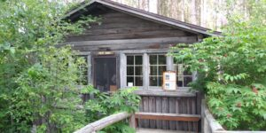 The Point Cabin. Where guests stayed in the summer.